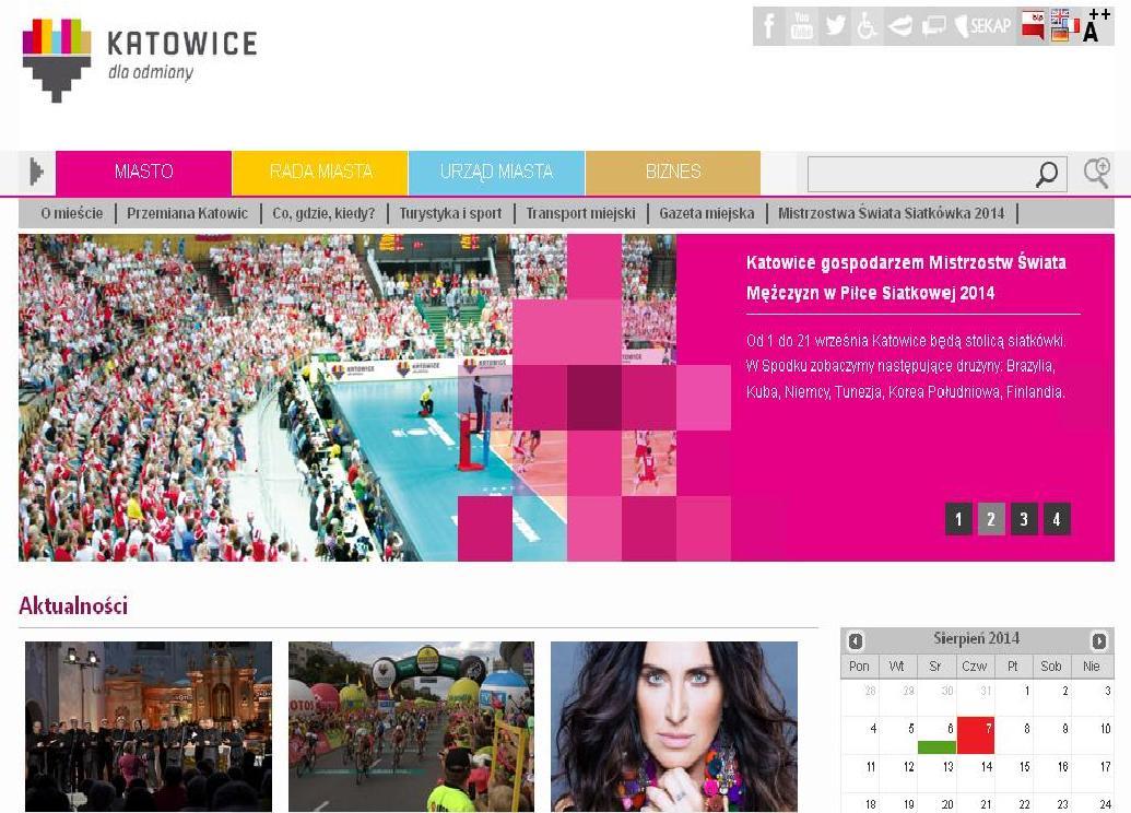 Nowa strona UM w Katowicach