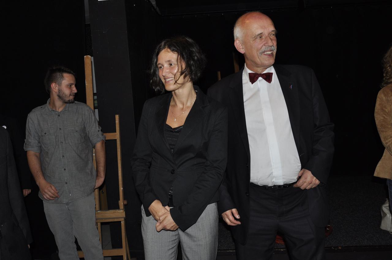Blanka Palka i Janusz Korwin-Mikke
