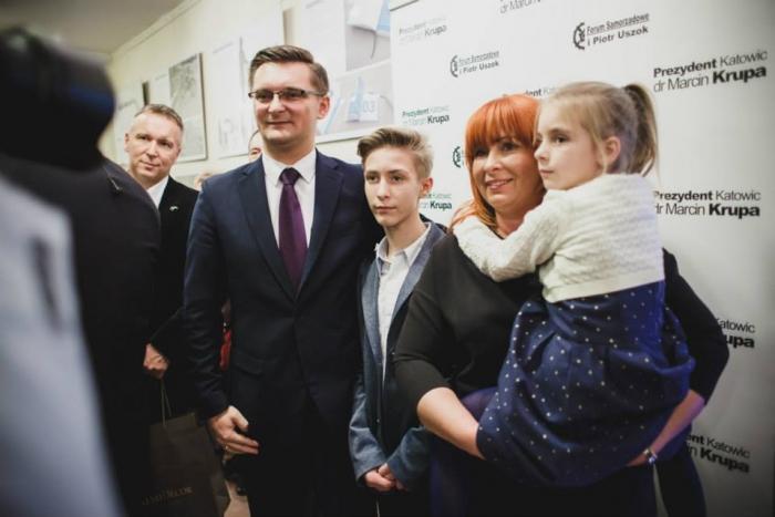 Marcin Krupa  z rodziną
