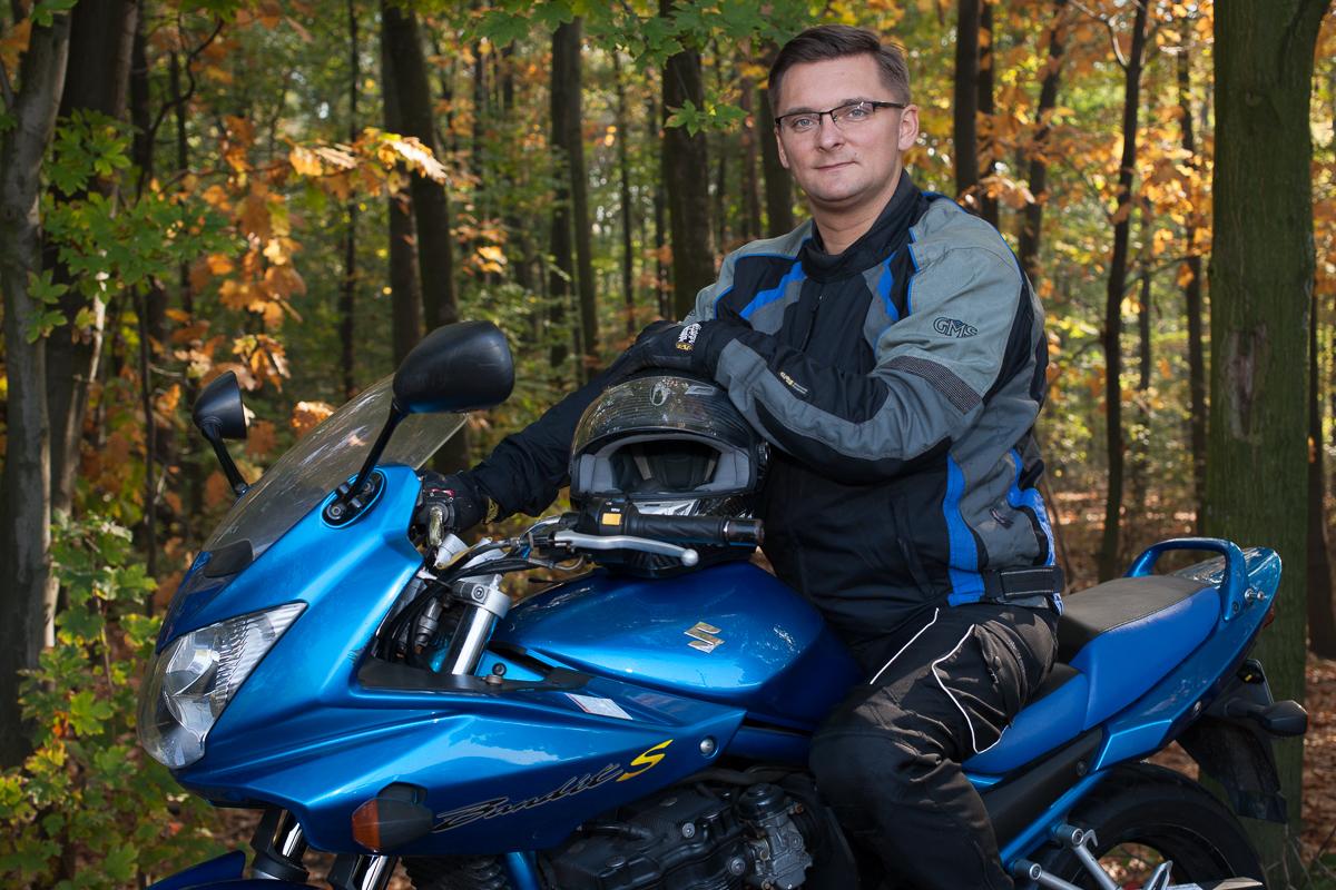 Marcin Krupa na motorze