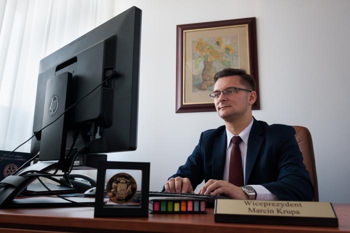 Marcin Krupa w urzędzie miasta