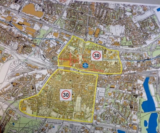 Mapa 30 km/h