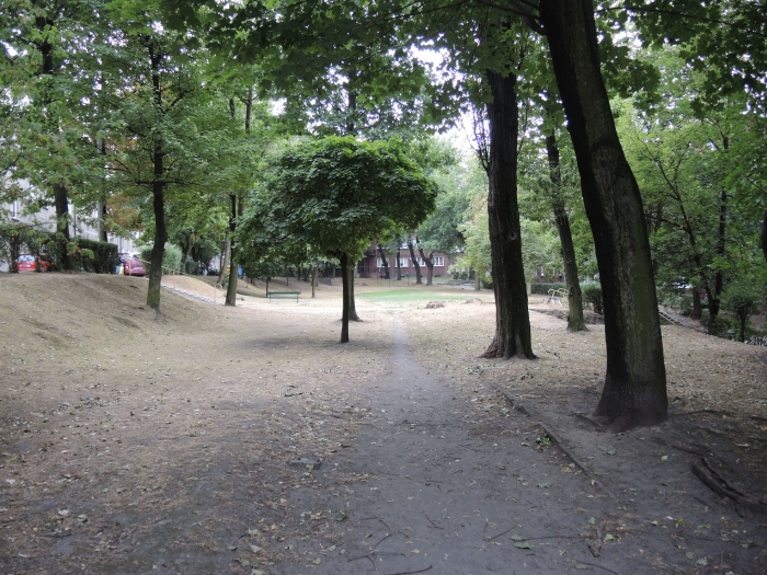 Podwórko pomiędzy ulicami Adamskiego i Koszarową.