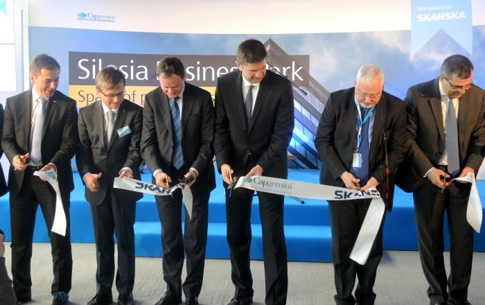 Symboliczne otwarcie drugiego budynku Silesia Business Park