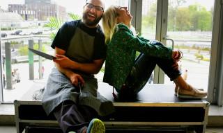 Jola Sauer z szefem kuchni. Fot. Szymon Hantkiewicz