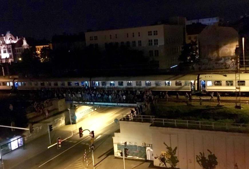 Kibole Ruchu Chorzów na wiadukcie nad ul. Francuską