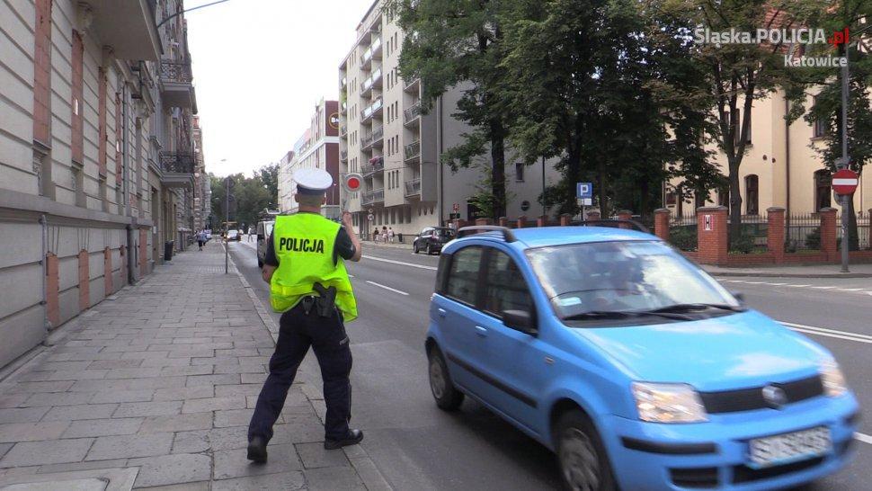 Policjant na ul. Sokolskiej