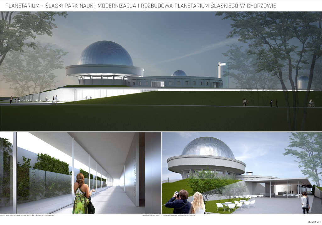 Wizualizacja Planetarium Slaskiego