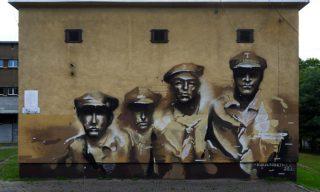 Mural na VII LO w Ligocie
