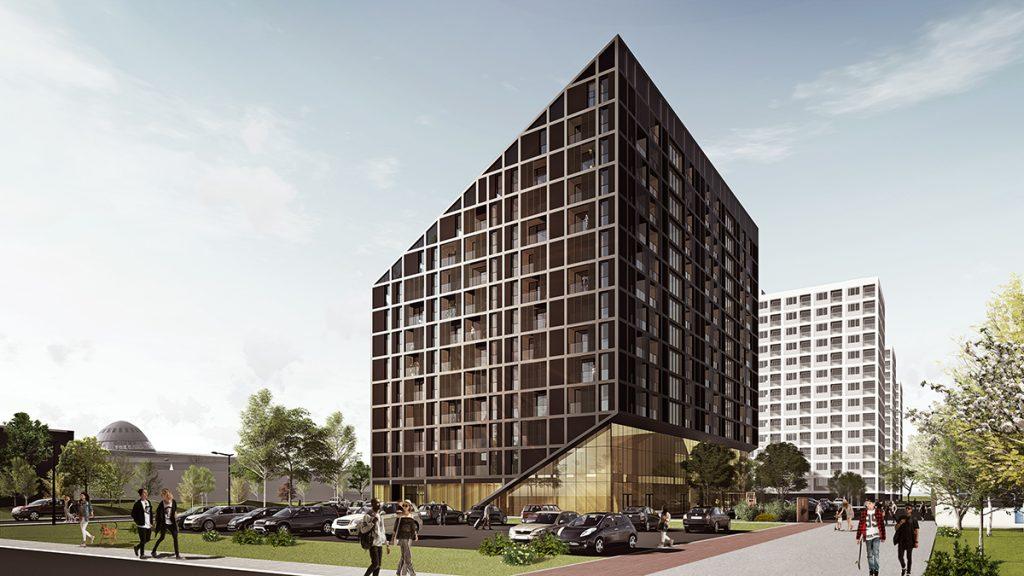 Koncepcja apartamentowca 2H+ Architekci stworzona dla Orange Polska.