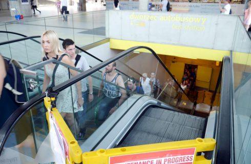 Będą nowe schody ruchome na dworcu w Katowicach