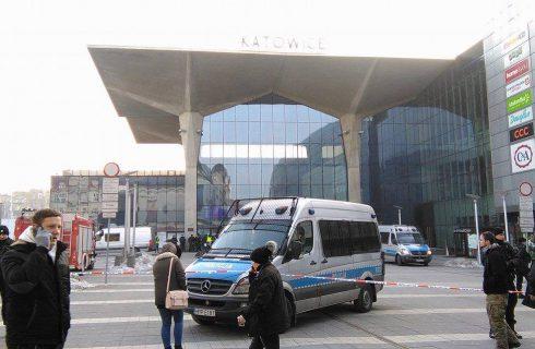 Alarm bombowy na dworcu w Katowicach