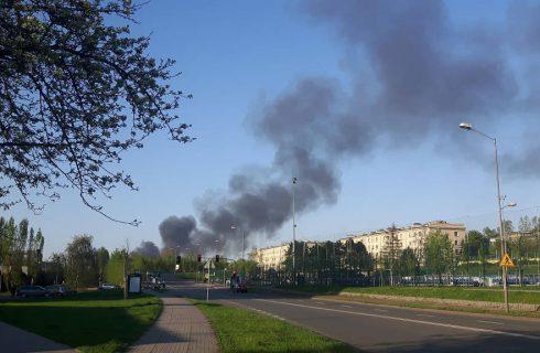 Dym nad Katowicami, ale pali się w Siemianowicach