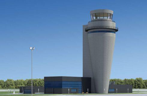 Na lotnisku w Pyrzowicach trwa budowa wieży kontroli lotów