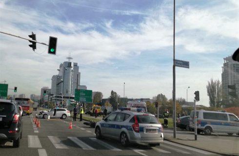 Wypadek w centrum Katowic. Jedna osoba trafiła do szpitala